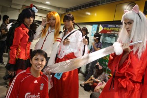 with anime warriors, Megamall June 2009