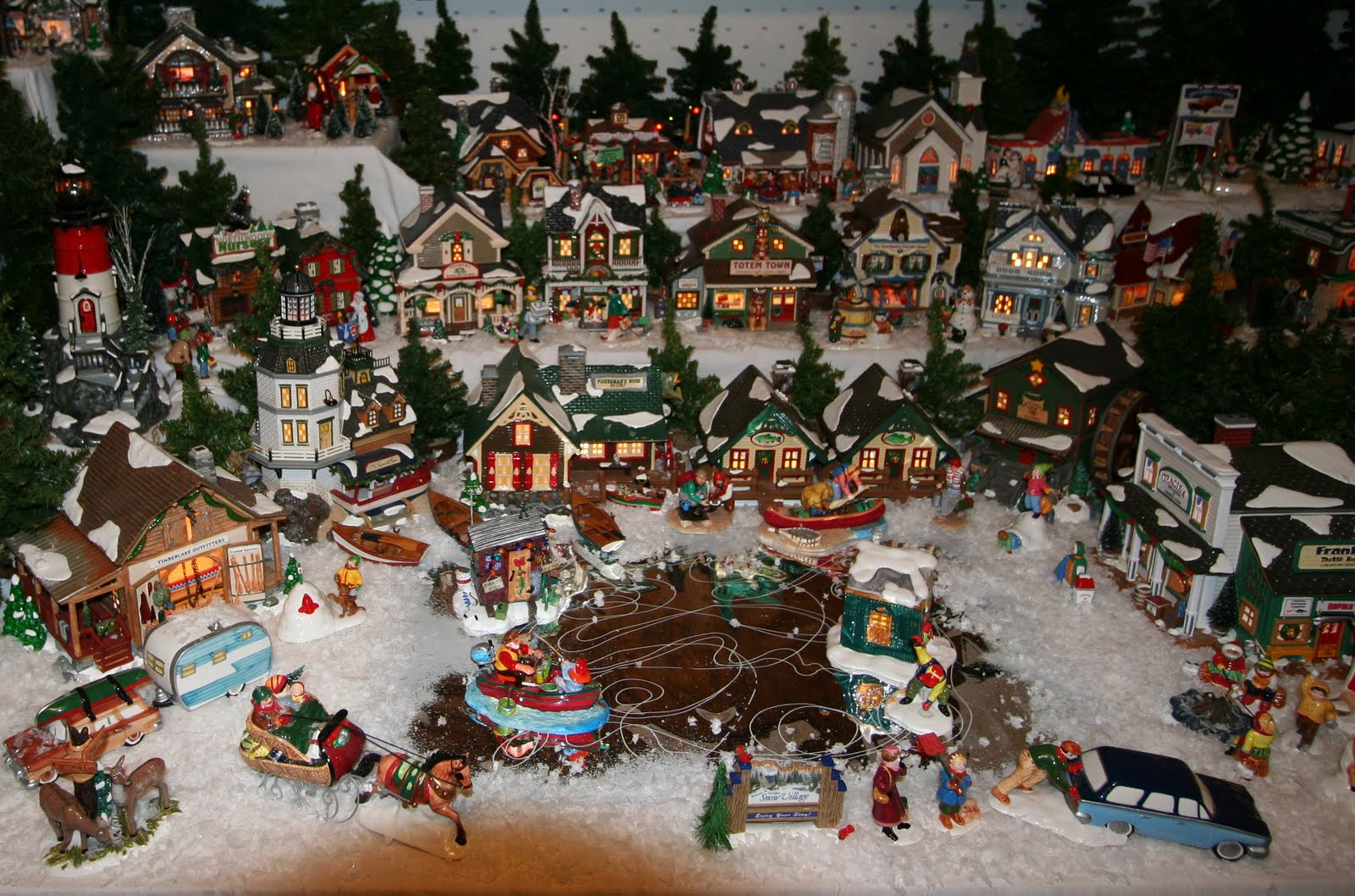 miniature Christmas village | YLBnoel's Blog