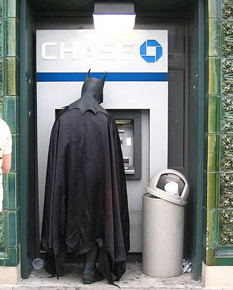 because even the Dark Knight needs some comfort shopping every now and then.