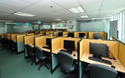 A call center similar to the one where I used to work.