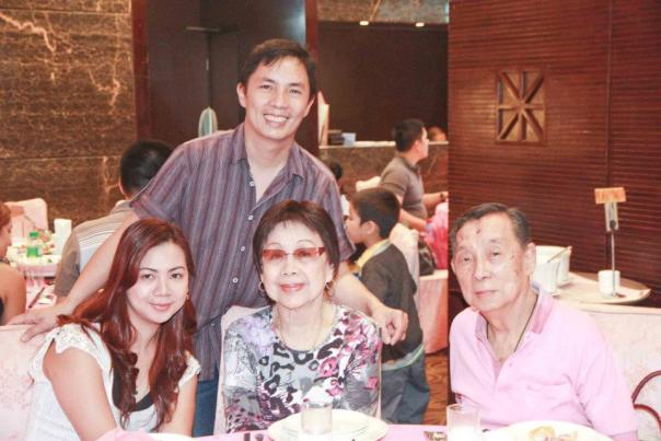 this is not the first time I'm using this pic but it's the best I have..  Mahal, me, my Tita Lily who recently passed away and Dad, dashing as ever!