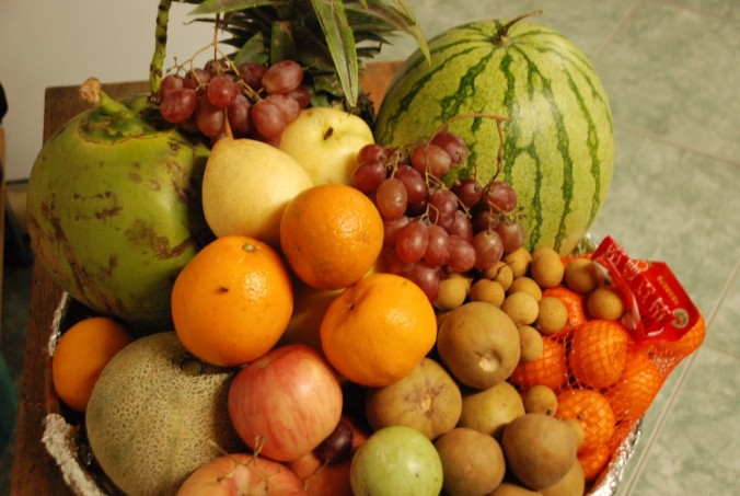 Filipinos believe serving at least 12 fruits with round or roundish shapes on the New Year's dinner table brings good luck the rest of the year.