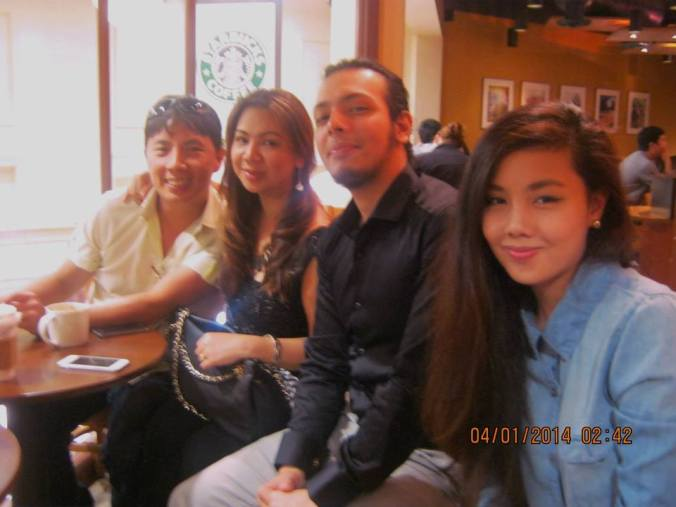 one of our happy gatherings with Panganay and Ganda, Bunso was working so couldn't be in the pic.
