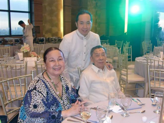 Mom and Dad on one of  many happy occasions spent together.  Here they are with Fifth Brother, who cuts a dashing figure himself ;)  Photo courtesy of the Facebook photo library of Ms Dely Imperial.