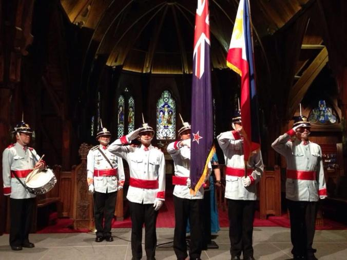 Pinoy migrants (including your kabayan) volunteering as honor guard for an official Philippine Embassy event in Welllington, New Zealand.