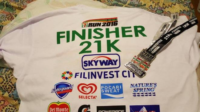 finisher shirt and medal
